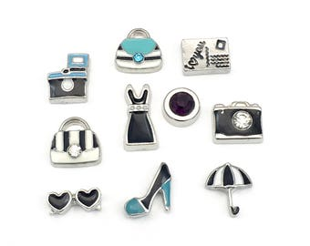 SALE! 10 fashion girl Floating charms for memory locket,6mm to 12mm #MIN CH 006