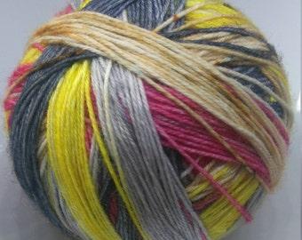 Self striping yarn - Hand dyed yarn - sock yarn - 75/25 merino nylon blend - Freddie