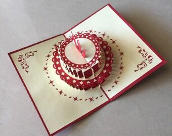 Cake Pop Up Card, Pop-Up Card, 3D Card, Birthday Pop Up Card, Birthday Card