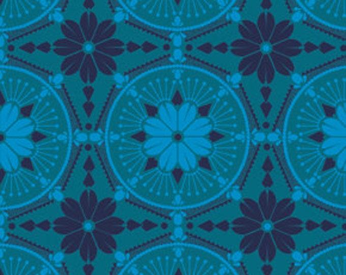 True Colors Anna Maria Horner Medallion Aquamarine - 1/2yd