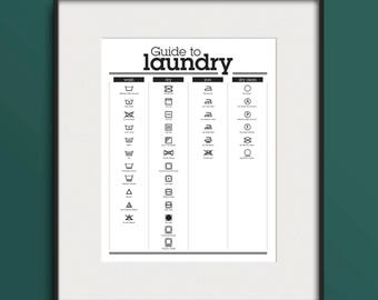 Guide to Laundry Poster