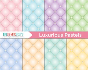 Digital Paper - Luxurious Pastels, Upholstery Pattern, Scrapbook Paper, Digital Pattern, Commercial Use, JPEG, PDF