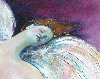 Acrylic Painting, Goddess painting, Nude figure, Fine Art, Giclee Print, Boudoir Painting, Passion and desire