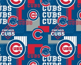 MLB Chicago Cubs baseball cotton fabric from Fabric Traditions 14544-B