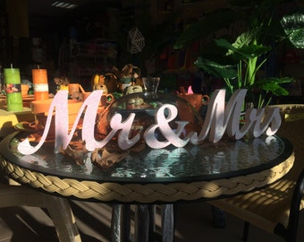 wooden letters mr and mrs. Wedding mrs and mr signs. Wood sign wedding table decoration mr and mr signs. Mrs and Mr sign, Mr and  Mrs sign.