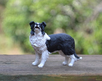 Border Collie Dog for use in a Fairy Garden