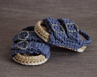 Crochet PATTERN. Birkenstock style baby sandals.