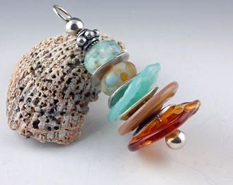 Jewelry Pendant, Glass Bead Pendant, Handmade Lampwork Glass Bead, Lampwork Bead, Glass beads, Lampwork Bead Pendant, Necklace Pendant Bead