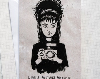 Strange and Unusual - Illustrated Card - Movie Art Card