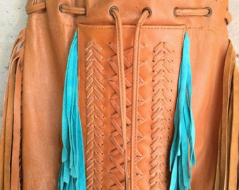 Indian Leather bag, Leather fringe bag, leather handbag, Boho leather bag, Boho fringe leather bag,