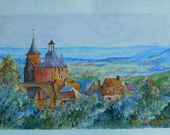 Watercolor on paper medium grain 300gms montval