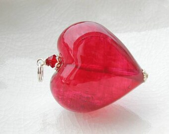 Half Price Murano Glass Heart Necklace