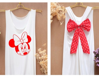 I'm Minnie mouse mickey Disney Tank Premium with Bow : Workout Shirt - Keep Calm Shirt - Tank Top - Bow Shirt - Razor Back Tank