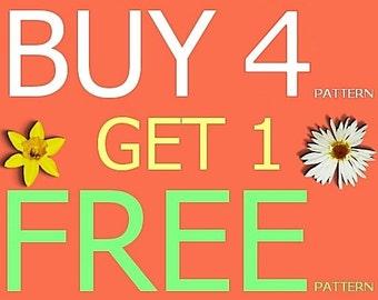 Amigurumi Pattern - Buy 4 Get 1 free (8.5 usd series)