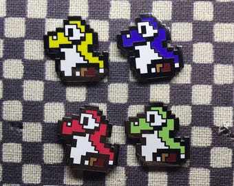Baby Yoshi Pin 4-Pack Super Mario World