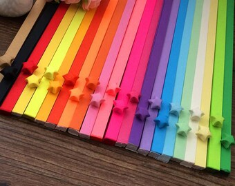 25 colors 2000 pcs Origami Star Paper Kit Ultimate Rainbow 2000 Strips Lucky Wishing Star Paper DIY Valentine gift