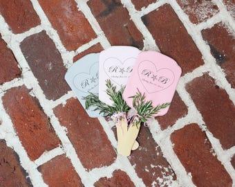 Wedding Program Fan   Digital Download   Printable Template