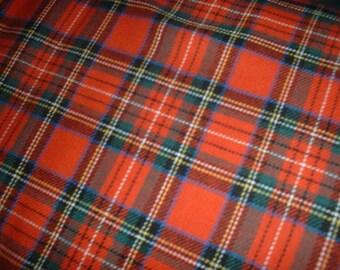 """Royal Stewart - Tartan Fabric - Brushed Cotton - Metre/Half - 59"""" (150cm) wide"""