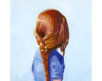 """8x10"""" hair art - braid print - """"Braid 7"""" giclee print"""