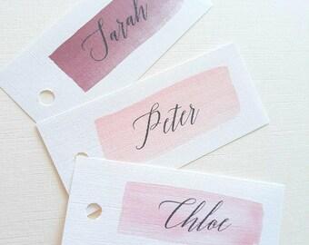 Place Cards -   Name Place Cards - Place Name Cards - Nude Brushstoke - Wedding Place Cards