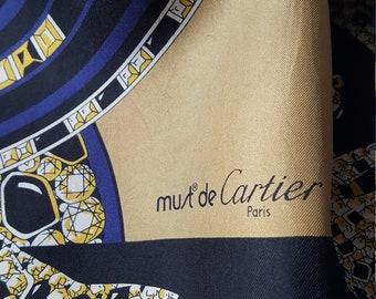 A Vintage Must de Cartier Silk scarf