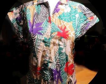 Womans Vintage Cotton Blouse Top Size 10 #363