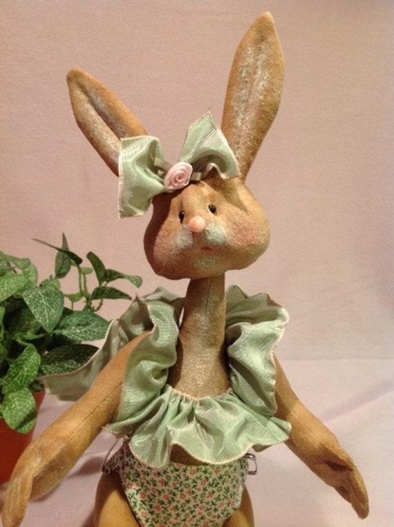 Isla Baby Bunny - Cloth Doll E-Pattern 12 inch Baby Girl Bunny Rabbit
