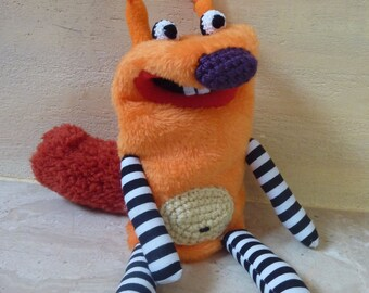 Squirrel -  simple plush moving mouth hand puppet