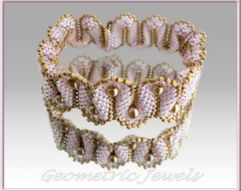 Instant download - Monte Carlo Bracelet - Beading Pattern - Dimensional Peyote