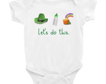 Let's Do This Infant Bodysuit, St Patrick's Day