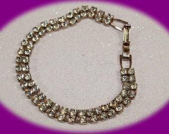 Vintage Bracelet Rhinestone Bracelet Brides Bracelet Wedding Bracelet Wedding Jewelry Vintage Jewelry Costume Jewelry Unique Gift For Her
