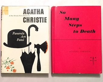 Agatha Christie 2 Detective Book Club DBC Hardcovers - Funerals are Fatal & So Many Steps to Death - Crime Fiction Mystery Thriller