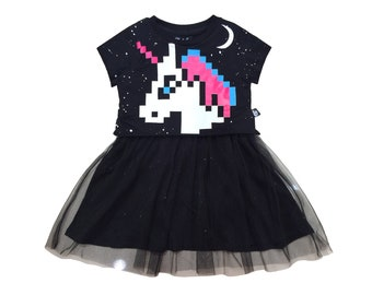 Organic Girls dress , Little girls dress , Unicorn dress , Unicorn party , Unicorn , Girls dress