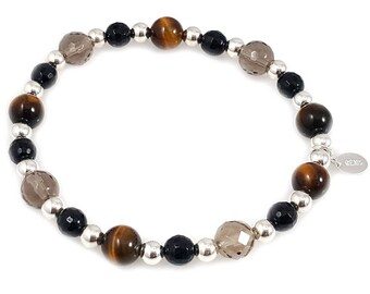 Brown Tiger Eye Multi-Stone Bracelet