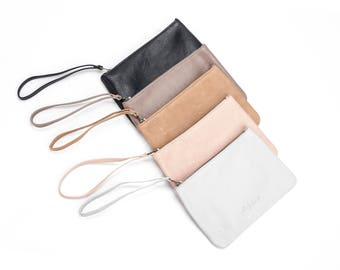 Leather Coin Pouch, Slim Leather Wallet, Slim Wallet, Leather Card Holder, Slim Leather Purse, Wallet, Small Wallet - Colors Available!