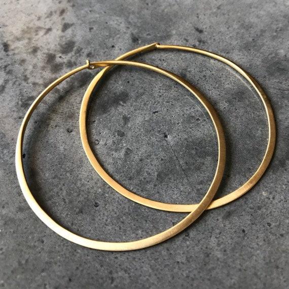 Gold hoop earrings, boho jewelry