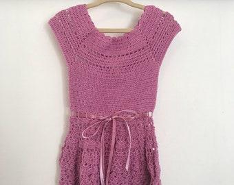 Vintage crochet toddler dress, 2T, hippie baby dress, hipoie toddler dress, crochet baby dress, bohemian baby dress, boho baby, girl shower
