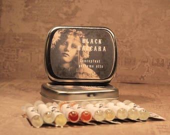 PICK 10 - Artisan Perfume Oil Sample Set, Perfume Sampler, Victorian Perfume Oil, Gothic Perfume Oil, Handmade Perfume Oil Vials