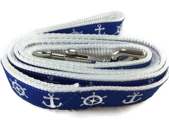 Dog Leash, Nautical Flags, 1 inch wide, 1 foot, 4 foot, or 6 foot