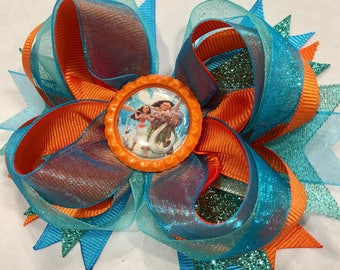 Moana Stacked Boutique Hairbow