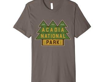 PREMIUM Acadia National Park T Shirt Maine Tee Wanderlust