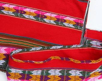 Vintage Guatemalan Boho Festival Bag Super Long Crossbody