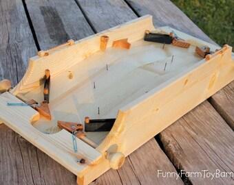 Pinball 2-Player Game Handmade Wooden Classic Family Fun Original