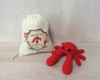 Claudette the Crab DIY Crochet Kit