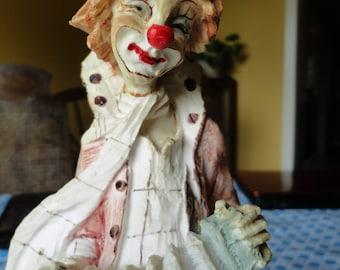 Porcelain Clown Figurine