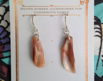 Beautiful shell section earrings
