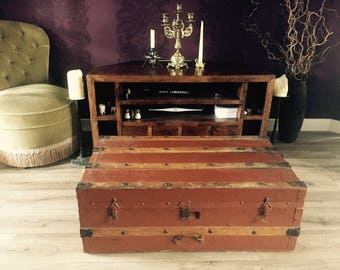 Vintage Trunk Coffee Table Wooden