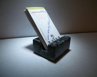 Vertical Business Card Holder/Vertical Card Holder/Business Card Holder/ Granite Business Card Holder/ Stone Business Card Holder