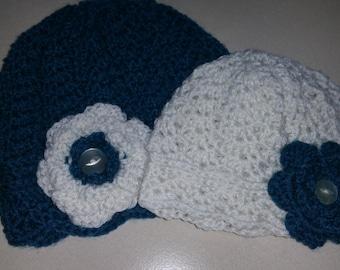 Crochet Mummy and me beanies