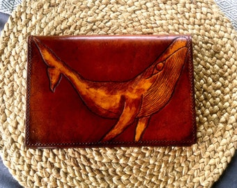 Humpback Whale Leather Notebook